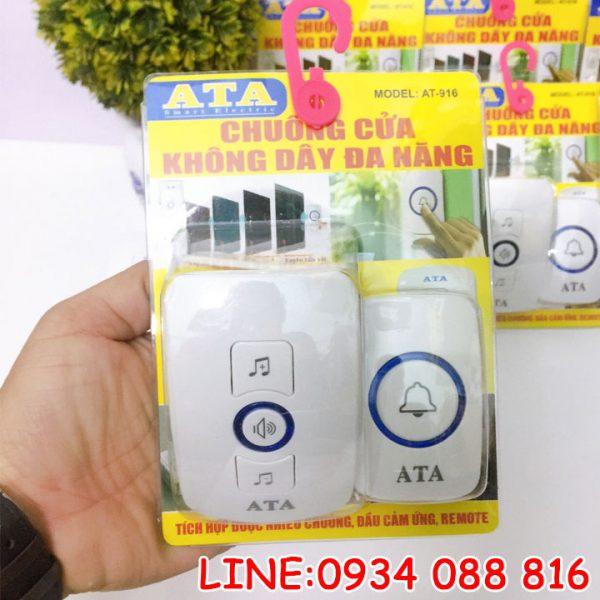 Chuông cửa không dây đa năng ATA AT-916