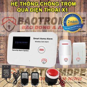 Hệ thống báo trộm gia đình không dây gọi điện thoại X1
