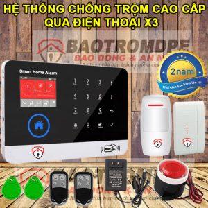 Hệ thống chống trộm cao cấp gia đình gọi điện thoại X3