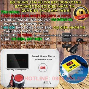 Thiết bị cảnh báo nhiệt độ qua điện thoại sms ATA TWS-01
