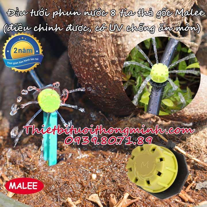 Đầu tưới cây phun nước 8 tia điều chỉnh cao cấp Malee thái lan