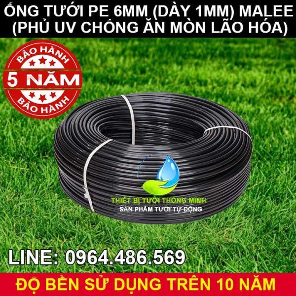 Ống tưới cây 6mm thái lan màu đen Malee