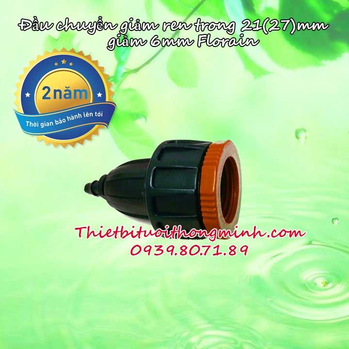 Đầu nối giảm vòi nước romine ren trong 21 27mm xuống ống 6 8ly
