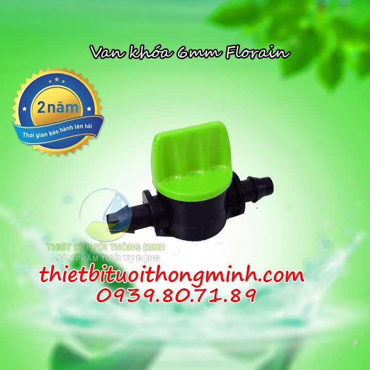 Van khóa nhựa ống nước mềm, hơi, khí đường kính 6ly 8mm