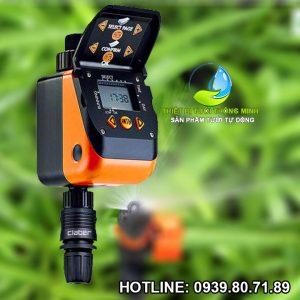 Bộ timer tưới cây tự động dùng pin claber 8413 tưới 6 lần ngày