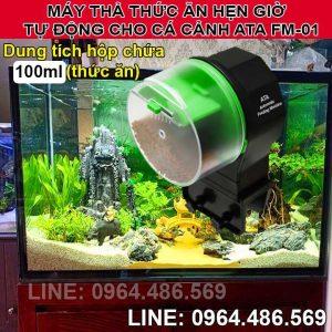 Máy cho cá ăn cảnh ăn mini hẹn giờ tự động ATA FM-01