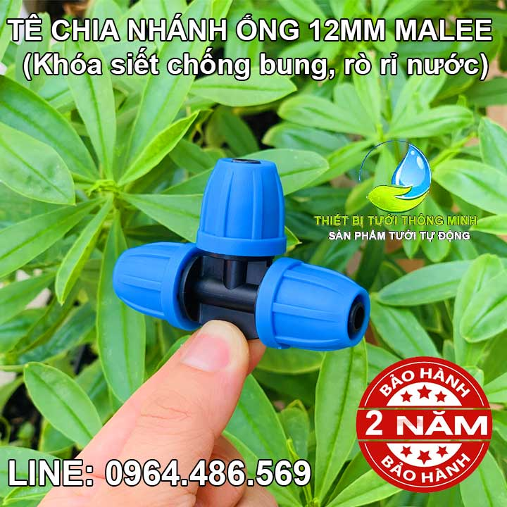 Tê chia 3 ống 10ly Malee