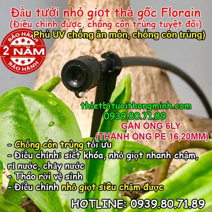 Vòi tưới cây nhỏ giọt điều chỉnh Florain